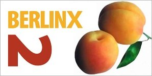 Suggestive imagery of two peaches, with the Text Berlin X 2 added.