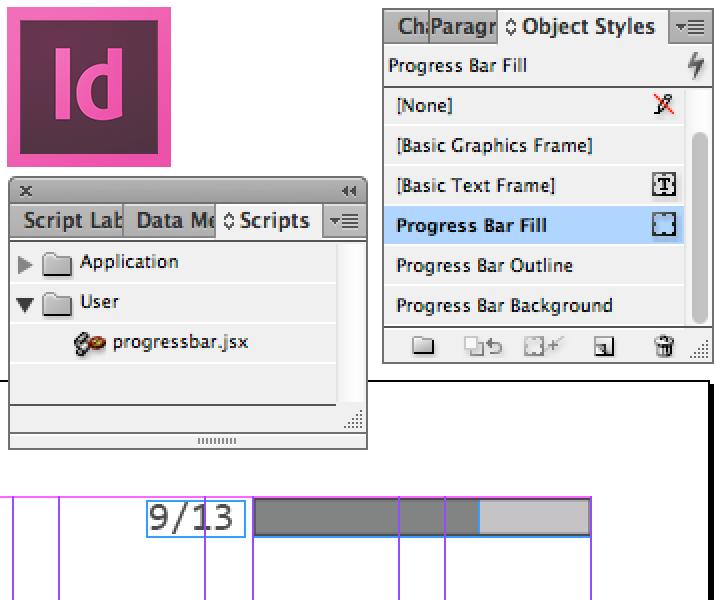 oelna de | Scripting an InDesign progress bar for presentations